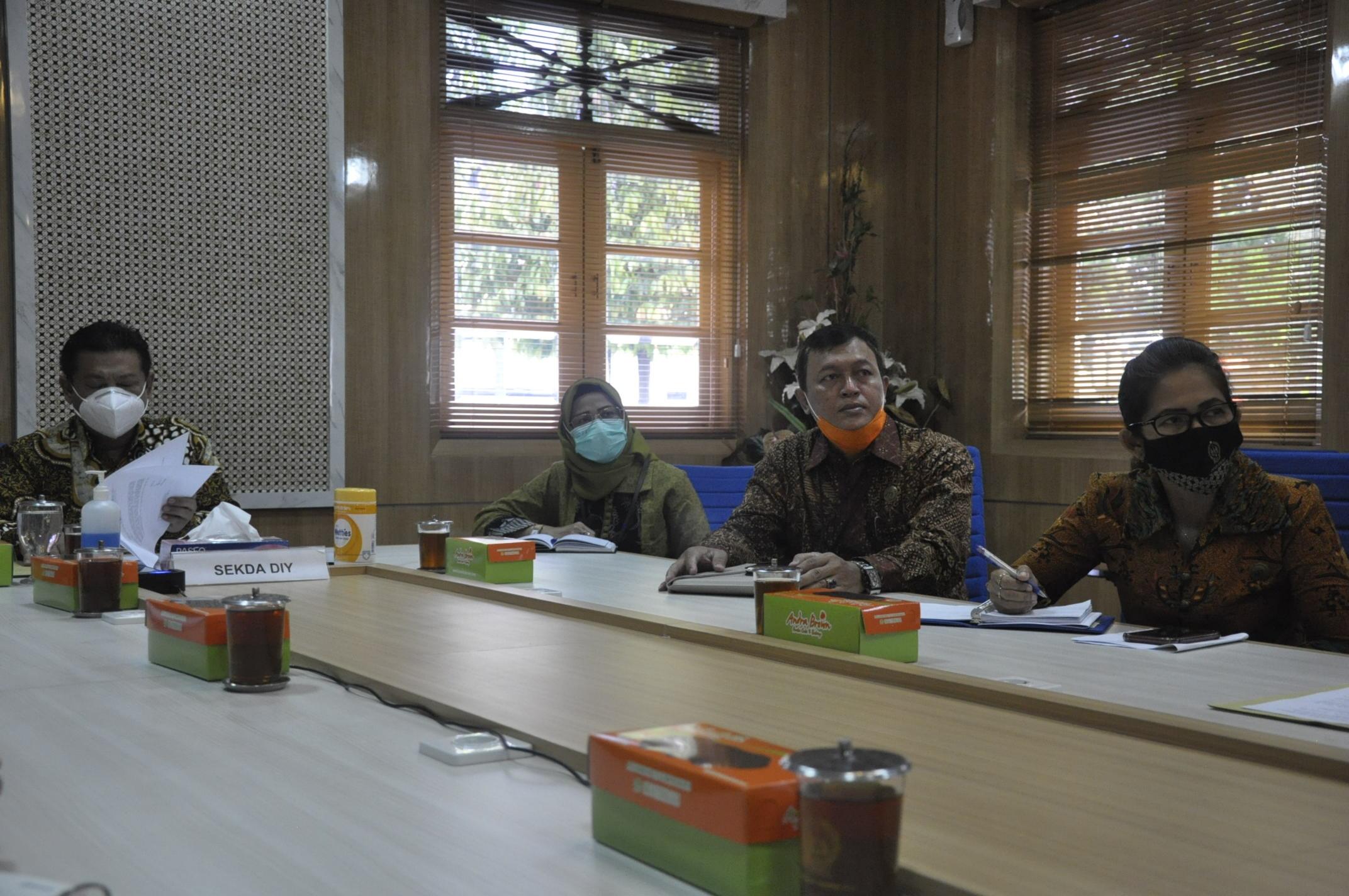 Exit Meeting Pemeriksaan Interim Atas LKPD Pemda DIY Tahun 2020