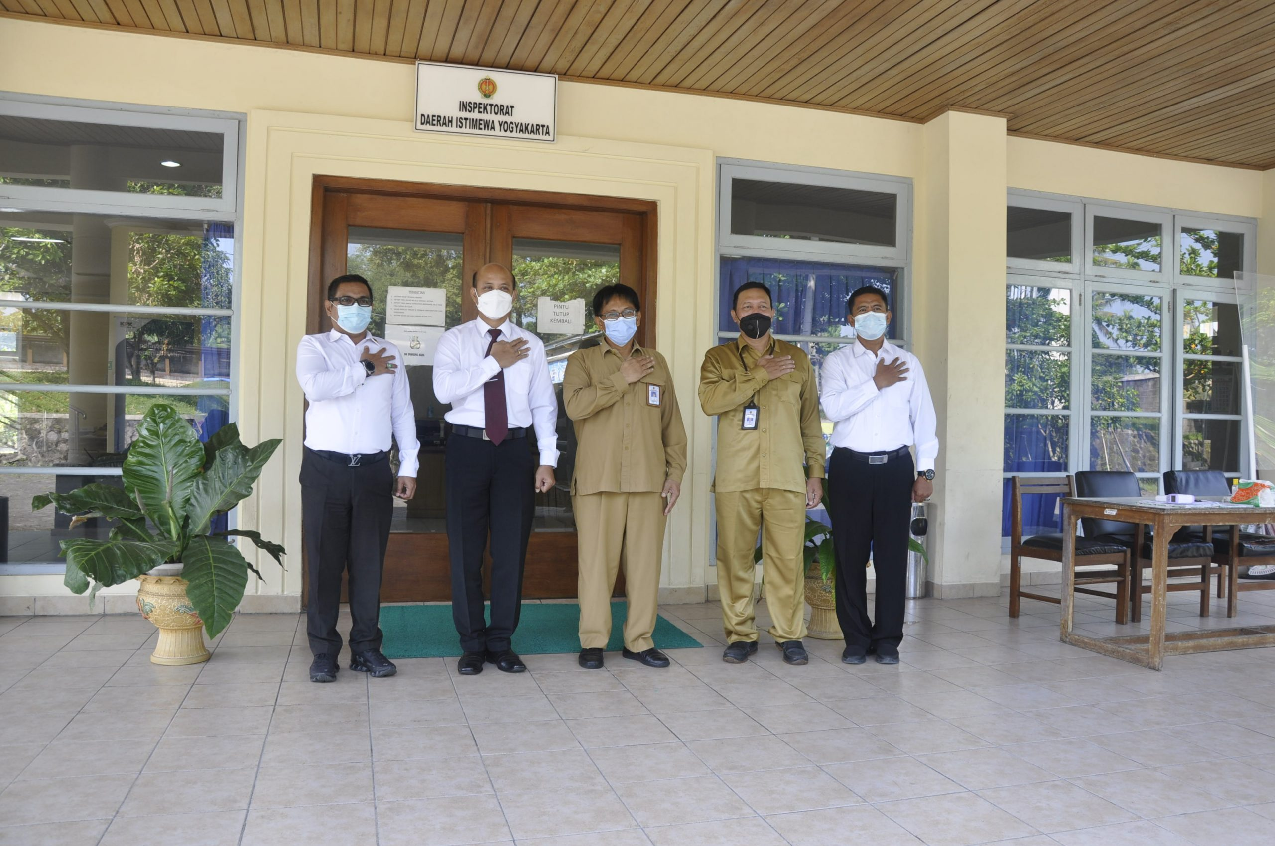 Silaturahmi dan Koordinasi Kasatgasda PEN Polda DIY dengan Inspektur Inspektorat DIY