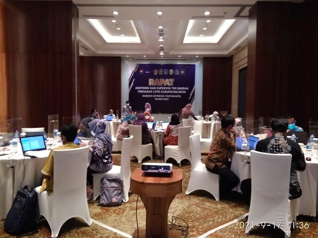 Rapat Asistensi dan Supervisi Tim Daerah Terhadap LPPD Kabupaten/Kota Daerah Istimewa Yogyakarta Tahun 2021